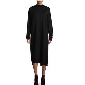 Free People black cotton sweater dress